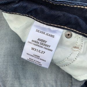 Silver Jeans Jeans - Silver Avery Ankle Skinny Jeans Distressed 31